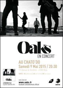 Oaks Flyer Concert Chato'Do - Blois - Mai 2015